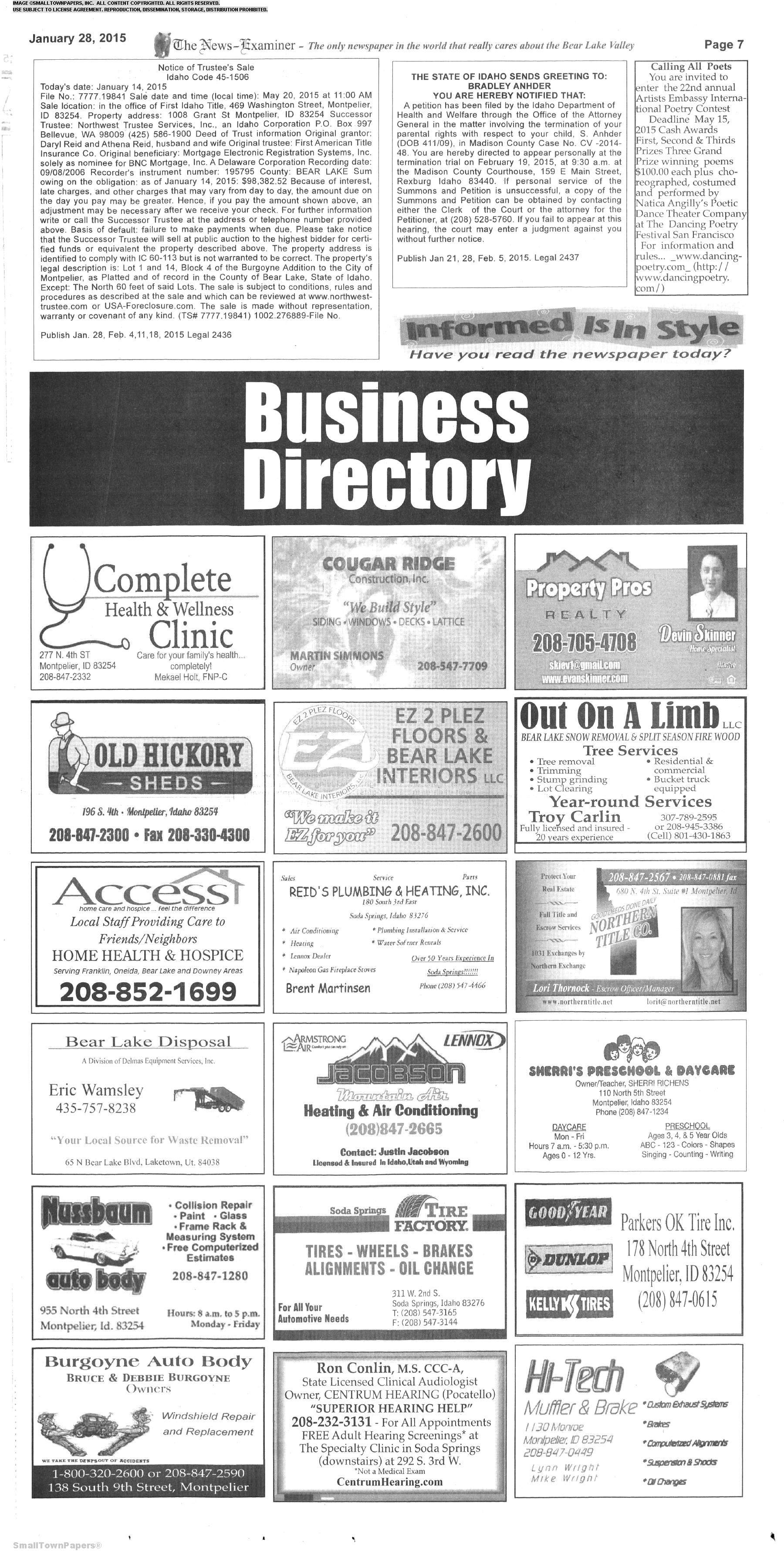 The News Examiner January 28 2015 Page 7